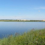 Новомичуринское водохранилище на реке Проня